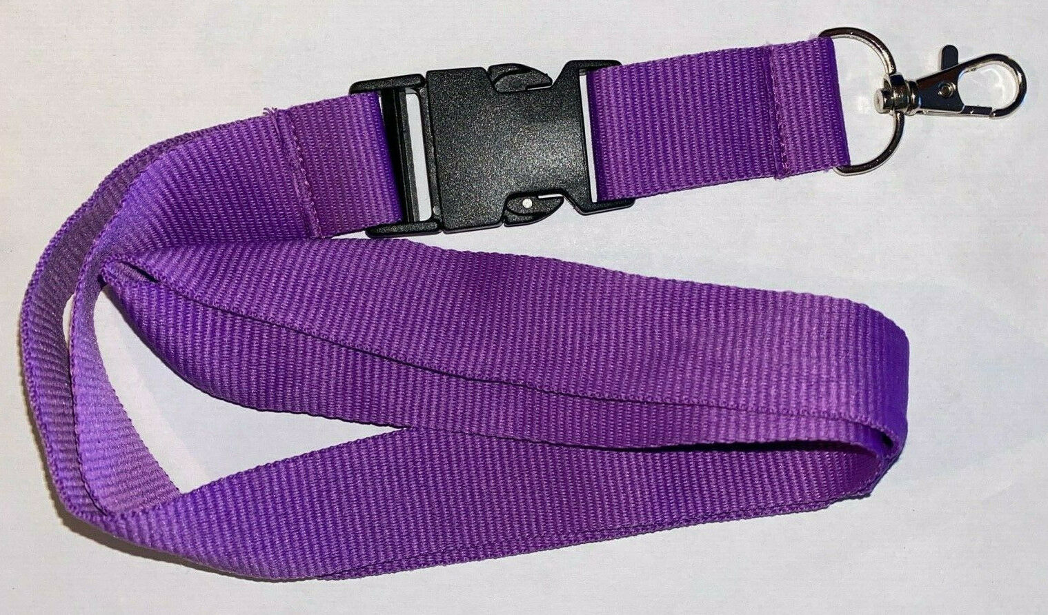 Violettes unbedrucktes lila purple Schlüsselband Lanyard NEU (T145)