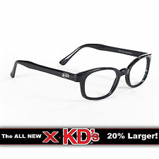 X-KD's Black Frame Clear Lens Sunglasses XKD Motorcycle Riding Glasses