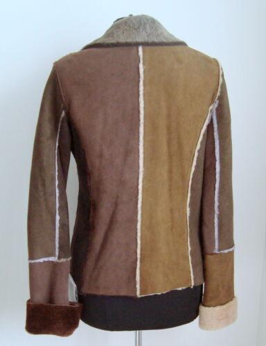 Merino Jacket Ladies' Unusual Size S Multi Coloured Sheepskin 3036 tvq1PSvw