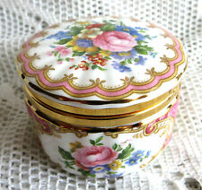 ROYAL ALBERT ENGLAND PINK LADY CARLYLE HINGED LIDDED TRINKET PILL BOX POT 1st