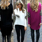 Sexy Women Fashion Summer Long Sleeve Blouse Shirt Tops Loose T-Shirt