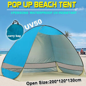 Pop-Up-Beach-Tent-Canopy-UV-Camping-Fishing-Mesh-Sun-Shade-Shelter-4-Persons