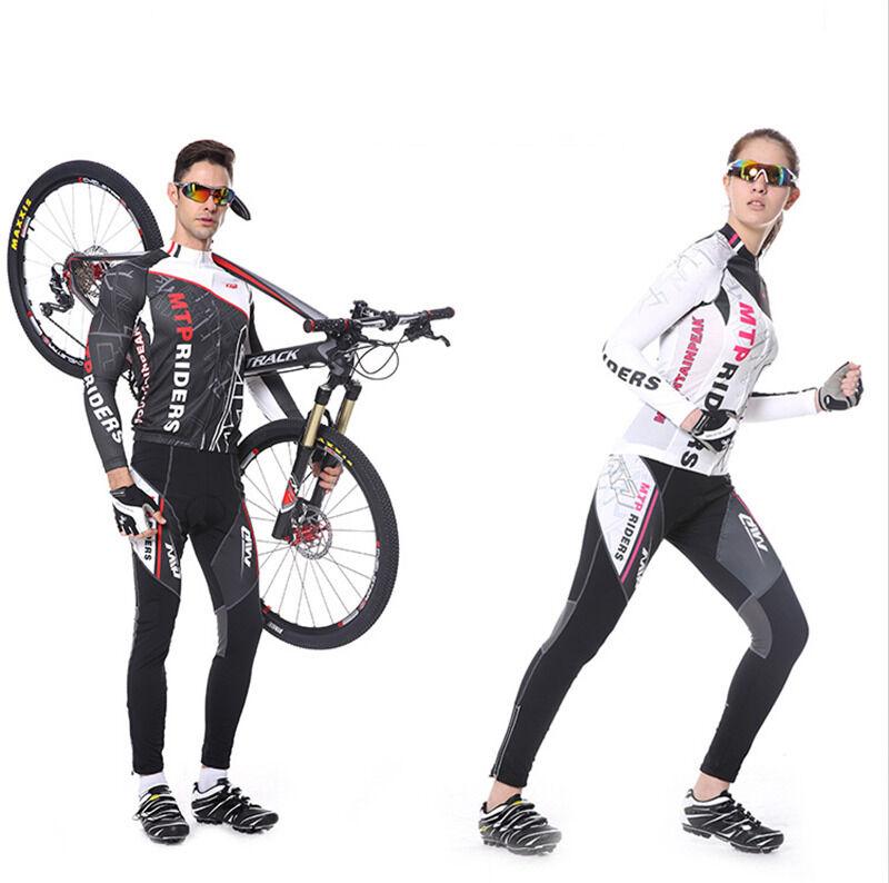 Men Women Cycling Long Sleeve Jersey Pant Sportswear Set  Legging Racing Clothes  70% off