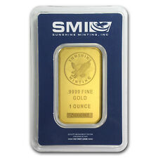 1 oz Gold Bar - Sunshine New Design Minting (In Assay with TEP)- SKU #85775