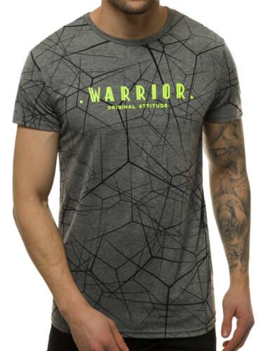 T-Shirt Kurzarm Shirt Mit Motiv Rundhals Mit Aufdruck Herren OZONEE JS//SS10935