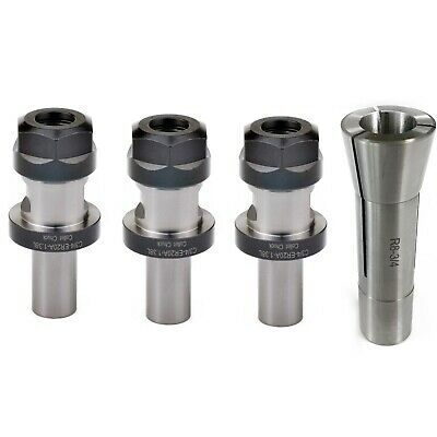 New  M12  R8 Collet 3//4  /&  3pcs 3//4 ER20 Collet Chuck Tool Holder  USA SELL