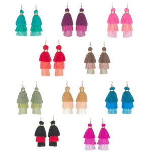 Layered-Tassel-Earrings-Fringe-Statement-Ear-Drop-Dangle-Fashion-Jewelry-Gift