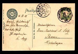 Bavaria-1906-Picture-Postcard-to-Passau-Z14037