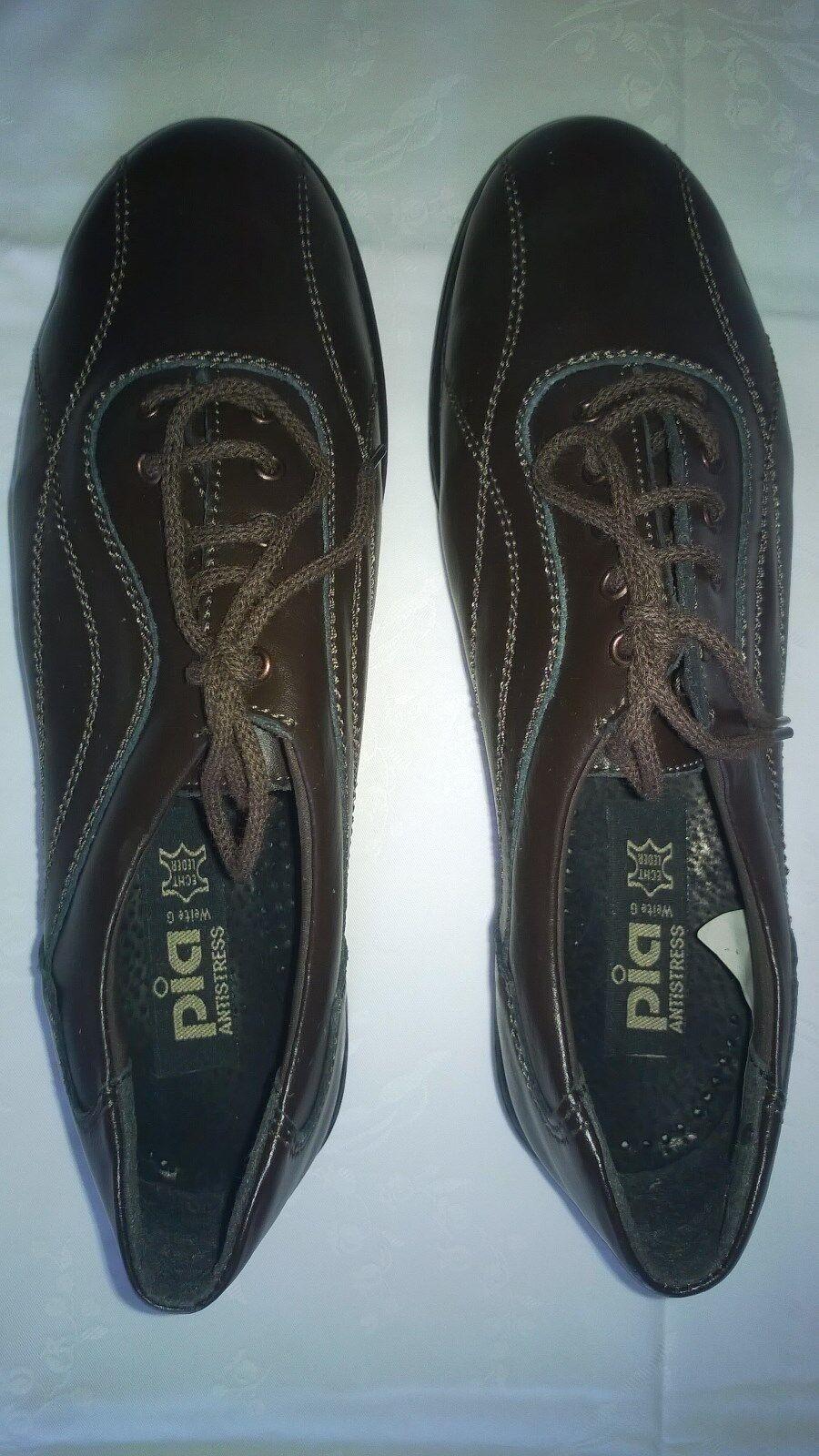 Schuhe Pia Antistress LEDER dunkelbraun Gr. 39 ECHT LEDER Antistress neu OVP 60fb84