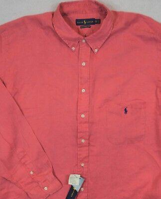 Ralph Lauren Shirt Oxford Royal Purple Long Sleeves 2XB 2XLT 3XB 3XLT NWT $110