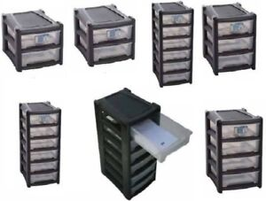 Details About Plastic Shallow Drawer Storage Unit Cabinet Office Bedroom Organizer A4 Drawers