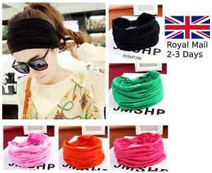 Women-Wide-Yoga-Headband-Stretch-Hairband-Elastic-Hair-Band-Head-Wrap-Turban-New