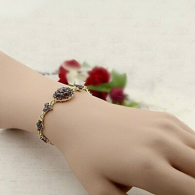 Original Bohemian garnet bracelet Sterling Silver yellowgoldplated ||ГРАНАТ #PK