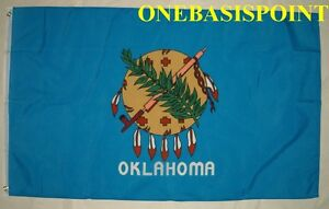 3'x5' Oklahoma US State Flag Outdoor Indoor Banner USA Osage Shield Calumet 3x5