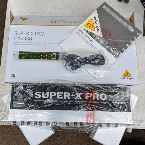 Behringer CX3400 V2 Version 2 Super-X Pro Crossover 2//3//4-Way 110-240V MINT Demo