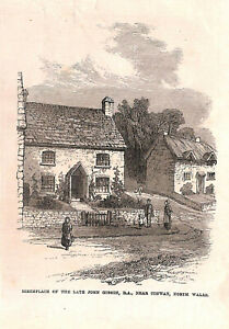 Genuine-Antique-John-Gibson-Conway-North-Wales-1860-039-s-Artist-Cottage-Birthplace