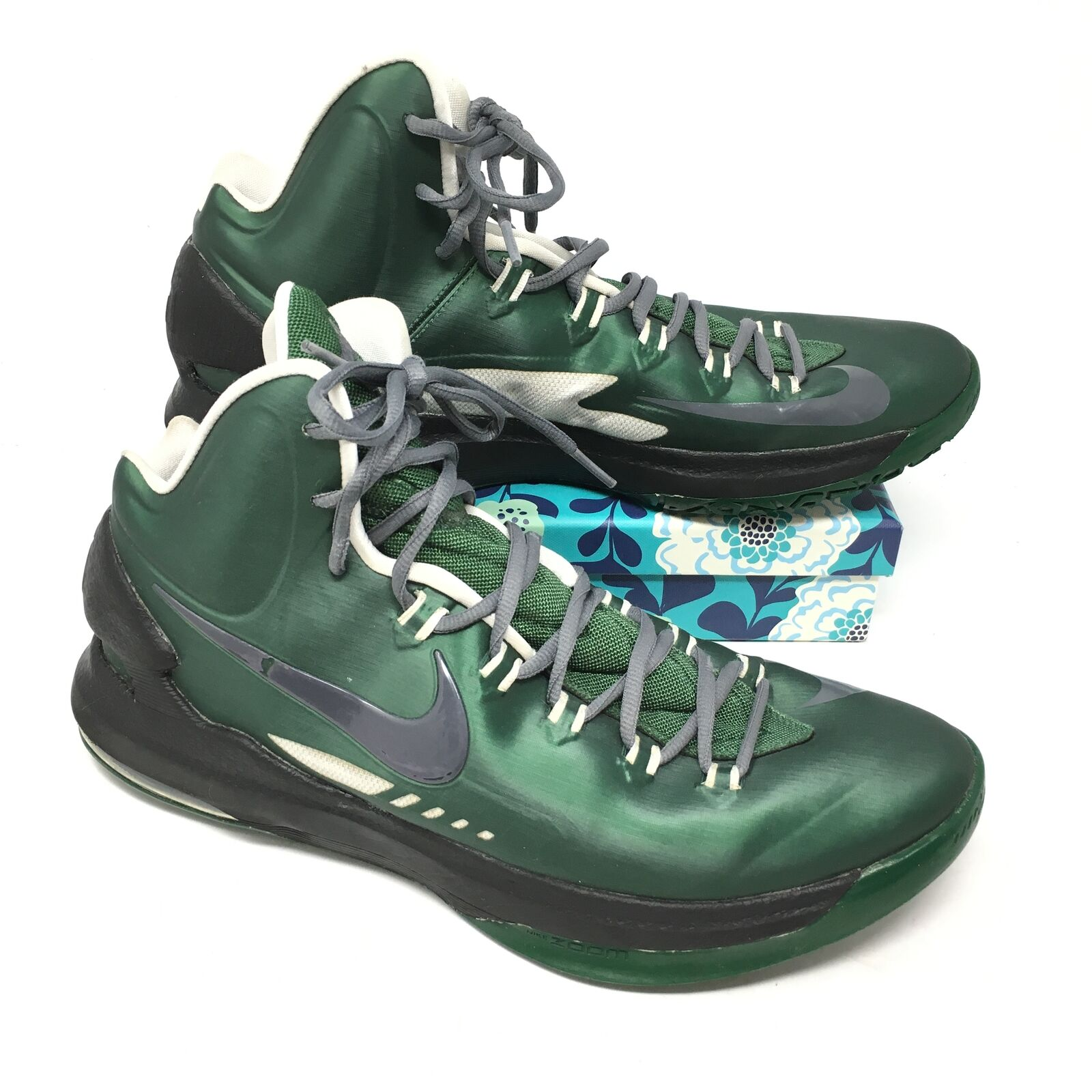Men's Nike Zoom KD 5 V shoes Sneaker Size 12.5 Basketball NikeID Green Black G14