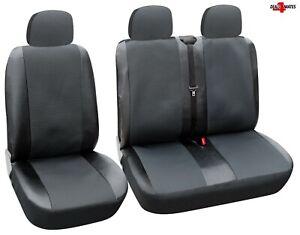 2+1 Kunstleder Sitzbezüge Schonbezüge Grau Satz für Nissan Opel Peugeot Renault