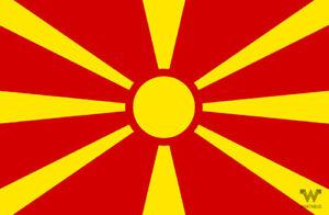 Flagge-Nordmazedonien-Mazedonien-Aufkleber-8-5-x-5-5-cm-Fahne-Sticker-WHATABUS