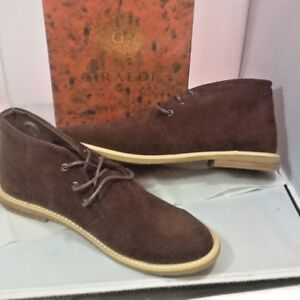 Details About Giraldi Mens Chukka Ankle Boots Brown Suede Tie Up Casual Size Us 11 New