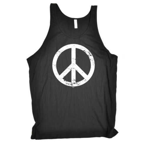 Peace Sign Funny Novelty Vest Singlet Top