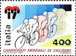 ITALIA-ITALY-1985-Ciclismo-Camp-Mondiali-Cycling-World-Stamp-MNH