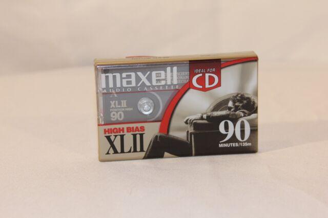 Maxell XLII 90 Blank Audio Cassette Tape Type II 90min/135m High Bias