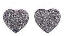 Swarovski Elements Crystal Heart Alana Pierced Earrings Rhodium Plated 7270z