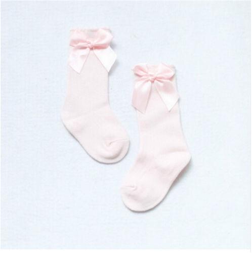 Warmer Baby Girls Socks Knee High with Bows Cute Baby Socks Long Tube Kids  Leg