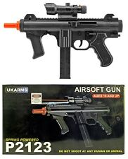 UKARMS Airsoft Spring Rifle Tactical SMG Gun Laser Scope LED Flashlight 6mm BB