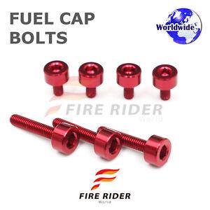 FRW-Red-Fuel-Cap-Bolts-Set-For-Honda-VFR800-VTEC-02-09-02-03-04-05-06-07-08