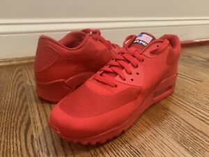 """Details about Nike Air Max 90 Hyperfuse QS """"Independence Day Red"""" Size 10 in DS Condition"""