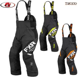New-2021-FXR-Mens-Team-FX-Snowmobile-Pants-Bibs-Black-LG-XL-2XL-3X-4XL