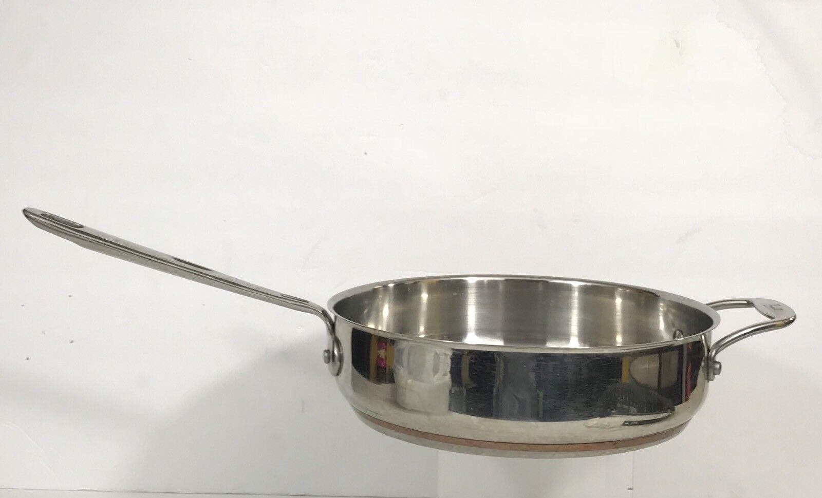Emeril Stainless Steel Copper Core 3Qt Deep Frying Skillet Sauté Pan 10 X2 1 2