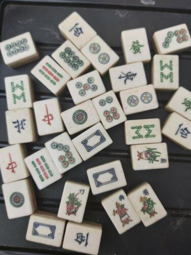 Mahjong Tiles ORPHELINS Spares vintage OS Bambou Veuillez voir description