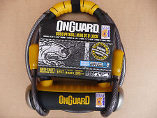Onguard Mini SHACKLE D U LOCK & CABLE Bike Bicycle Motorbike Moped PITBULL 8008
