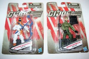 Retired-GI-Joe-Vs-Cobra-SHIPWRECK-Sailor-Ninja-STORM-SHADOW-Action-Figure-Lot