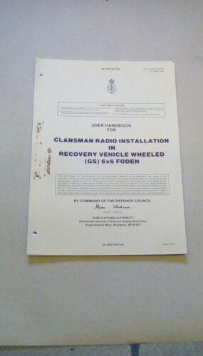 USER HANDBOOK CLANSMAN INSTALLATION IN 6X6 FODEN 63512