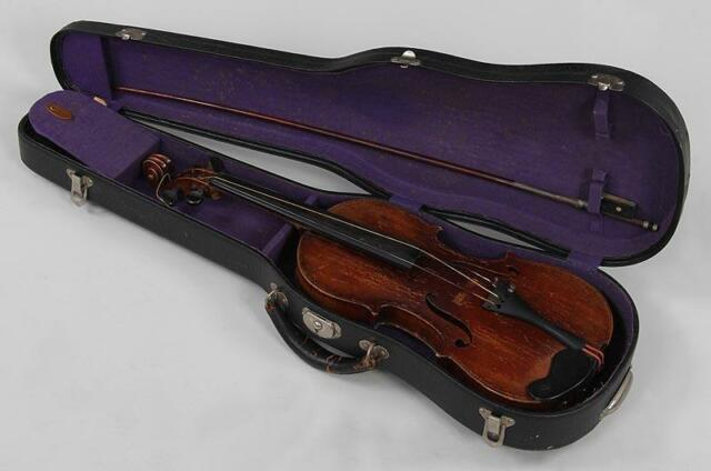 German Josef Engleder's Antique Violin circa 1812? w/ Tourte bow & case 24