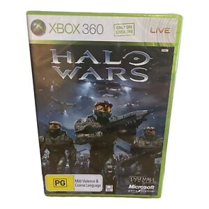 Halo Wars (Xbox 360, 2009) White Label 1st Print Brand NEW - FACTORY SEALED!