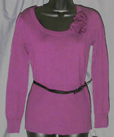 Alyx, Small, Raspberry Long Sleeve Belted Sweater, With Tags