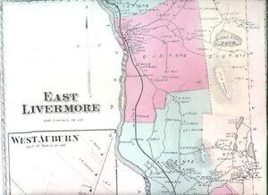 1873 East Livermore Falls Auburn Maine Antique Map Nr Ebay