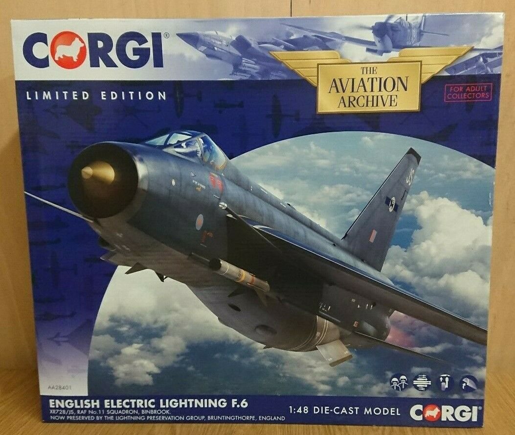 Corgi aa28401 English Electric Lightning F.6 xr728 Ltd. Edición No. 0819 de 2000