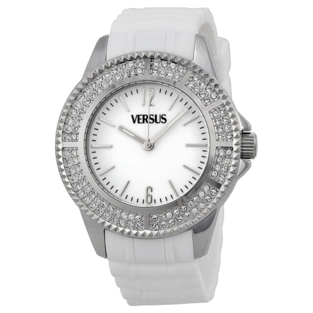 Versus by Versace Tokyo Crystal White Dial White Rubber Ladies Watch 3C63700000