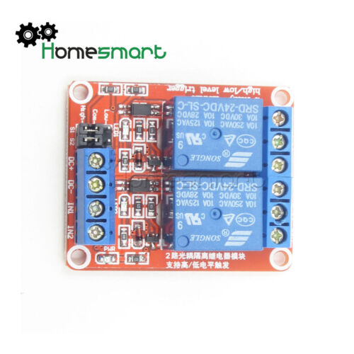 2//4//8 Channel Relay Module Board With Optokoppler High//Low Level Trigger 5V-24V