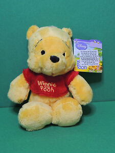 Winnie-T-shirt-rouge-034-the-pooh-034-Peluche-20cm-Disney-Nicotoy-soft-toy-plush