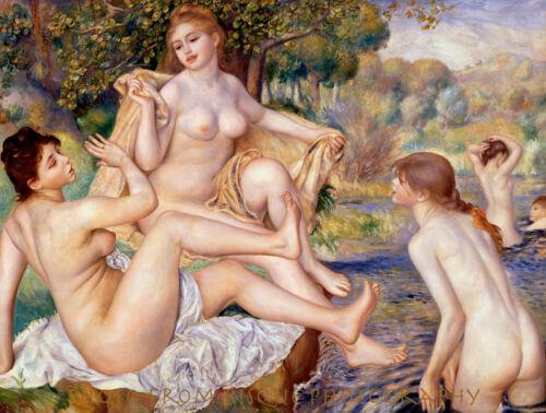 "The Large Bathers 8.5x11/"" Photo Print Pierre Auguste Renoir Nude Women Bathing"