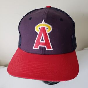 ab7add8fc Details about California Angels Mesh Snapback Baseball cap hat 70's Vintage  Old Halo Logo MLB