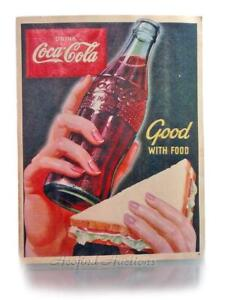 Details about ORIGINAL Coca~Cola 1950's Old Paper Stock Window Sign COKE