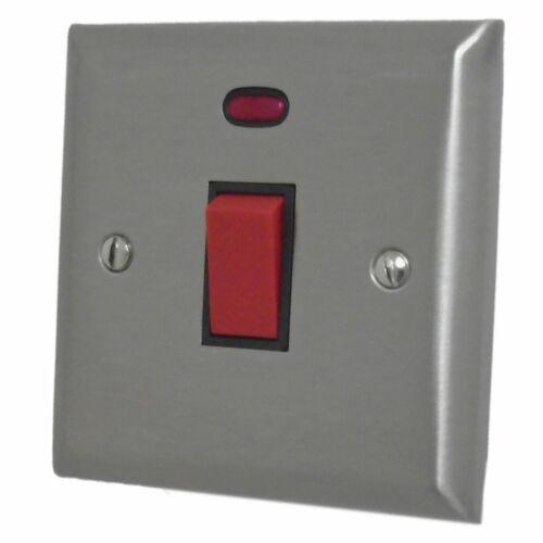 G/&h Spectre SSS46B en acier inoxydable 45 Amp DP Cuisinière Interrupteur /& Fluo plaque unique